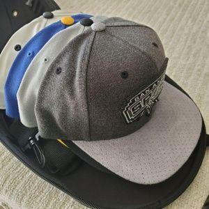 Lids Baseball Cap Carrier Black Case + 4 hats